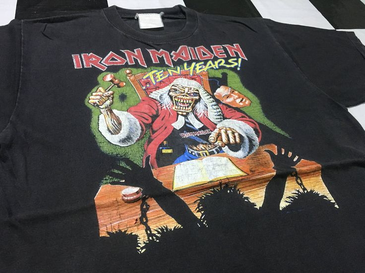 Vintage Iron Maiden t shirt Ten years Size M by AlivevintageShop on Etsy