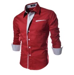 Men's Formal Two Colour Dress Shirt