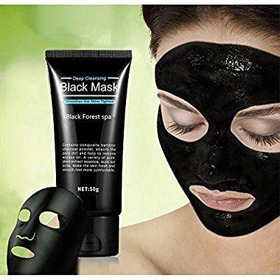 Masque noir, Black Forest Spa® masque nettoyant nettoyage en profondeur l'acné comédons décapant décoller masque
