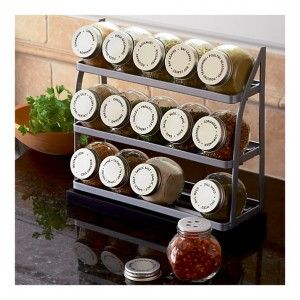 Tiered Spice Rack In Food Containers, Storage