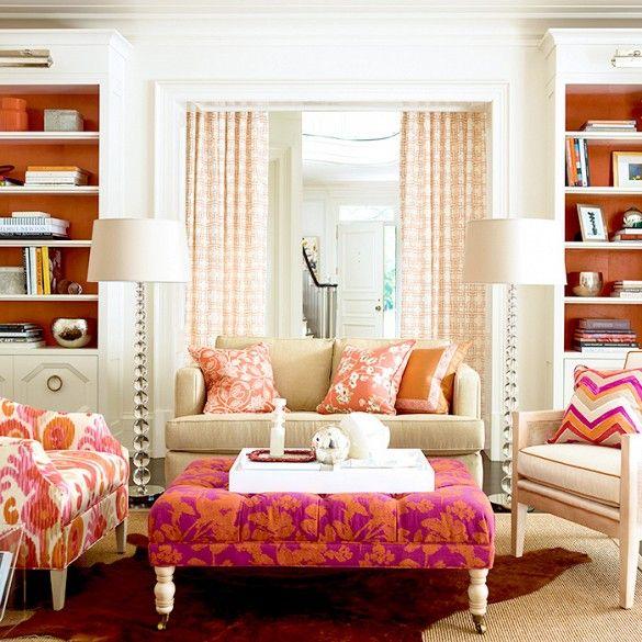 incredible hot pink orange bedroom | 63 best Pink and Orange Interiors images on Pinterest ...