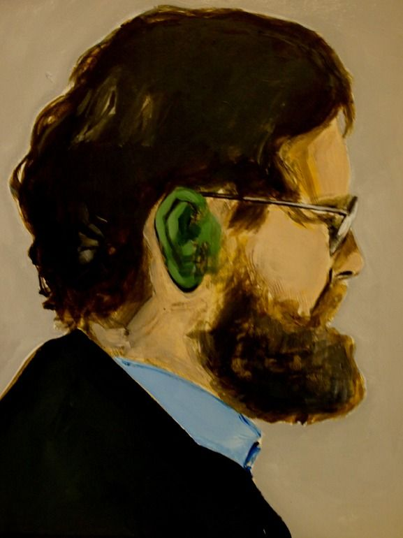 Man with green ear Miguel Laino