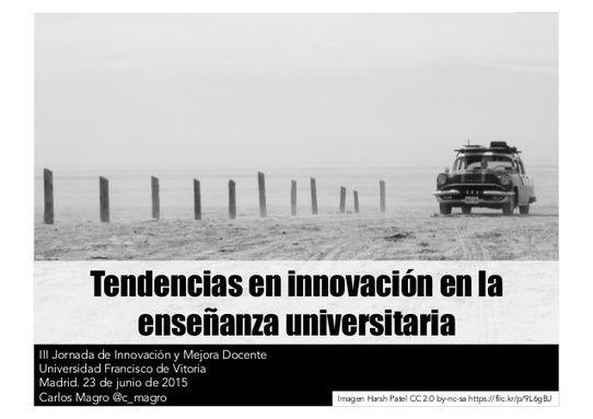 Tendencias en innovación en la enseñanza universitaria