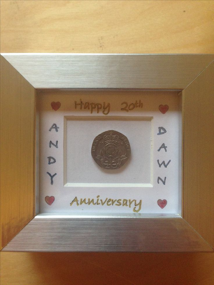20th wedding anniversary coin gift