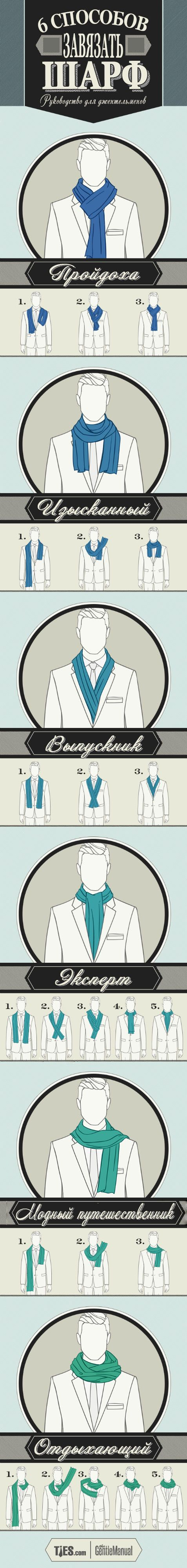 gentlemens guide to scarf tying