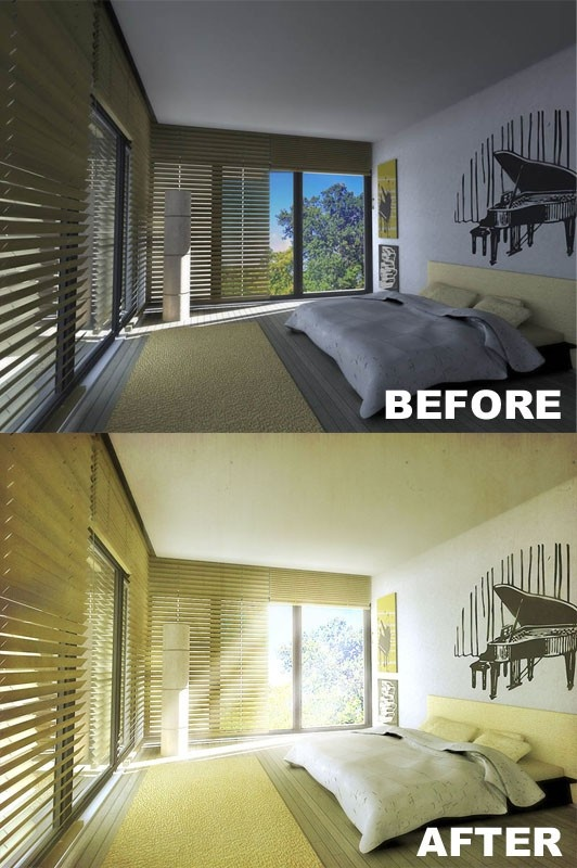 arch. stud. Jasmine Steiner Modern Bedroom Interior Design Made in Archicad Rendered in Artlantis Post edited in Photoshop