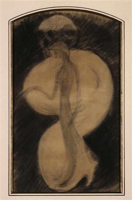 "Gauguin Paul (1848-1903) ""Madame la Mort"" Dessin"