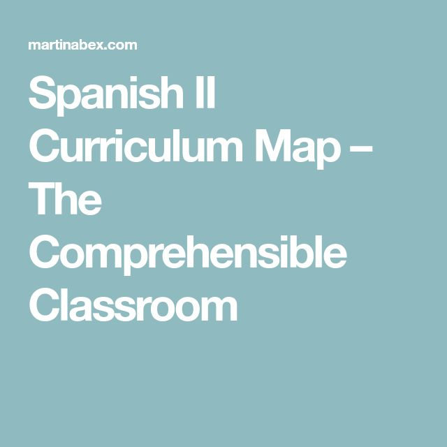 Spanish I Curriculum Map TPRSCI Curriculum mapping