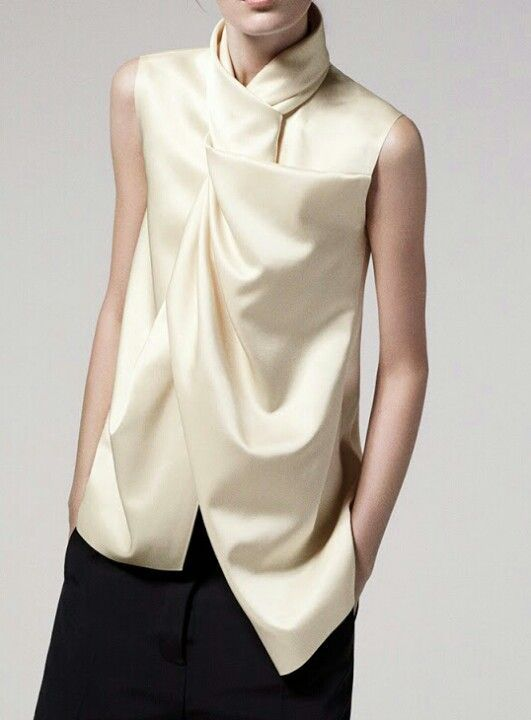 draping top--fun to figure out how to cut and sew this...