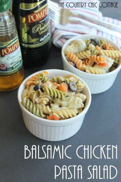 balsamic chicken pasta salad... mainly because im hungry and anything looks good
