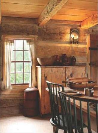 : Little Houses, Primitive Rustic Country, Primitive Country Antiques, Cabins Dinning, Rustic Logs, Cabins Style, Logs Cabins Kitchens, Log Cabins, Cabins Y