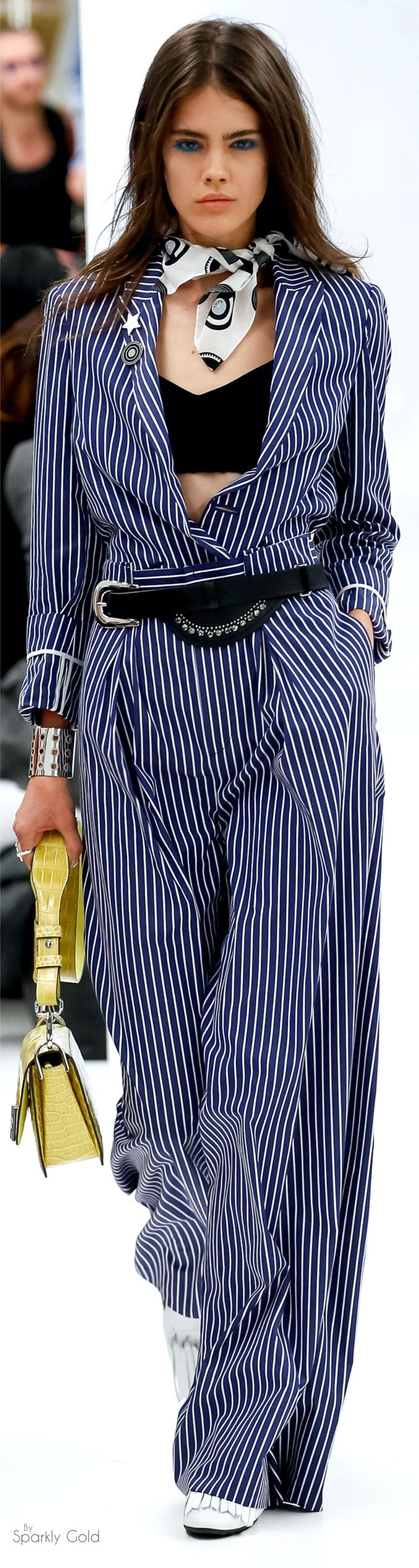 Tod's Spring 2016 RTW women fashion outfit clothing style apparel @roressclothes closet ideas