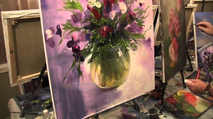 Ещё букет 163 Видео урок живописи. Картина маслом Игорь Сахаров