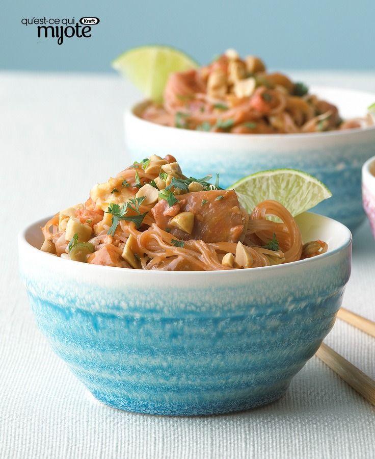 Pad thaï crémeux aux arachides #recette