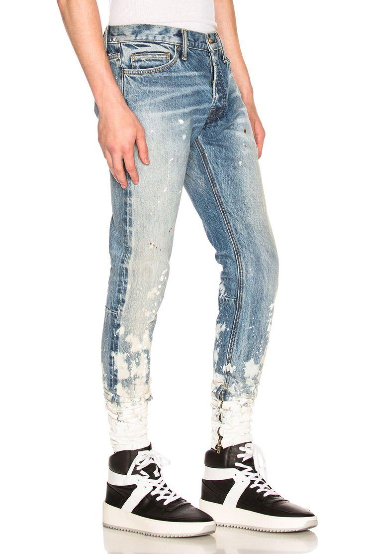 Image 2 of Fear of God Selvedge Denim Painters Jean in Indigo Romper