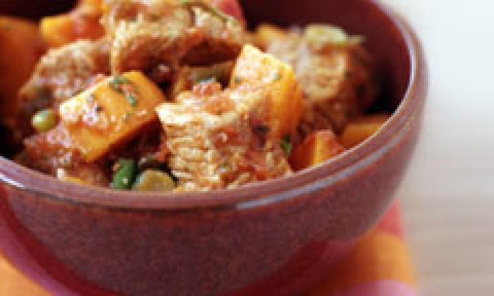 Slow cooked pork and sweet potato stew - Kidspot