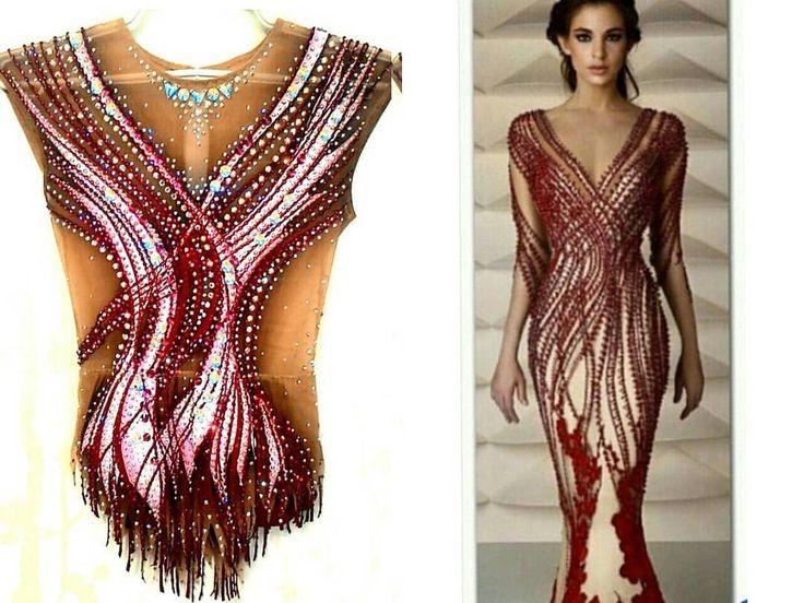 Evening dress long sleeve gymnastics