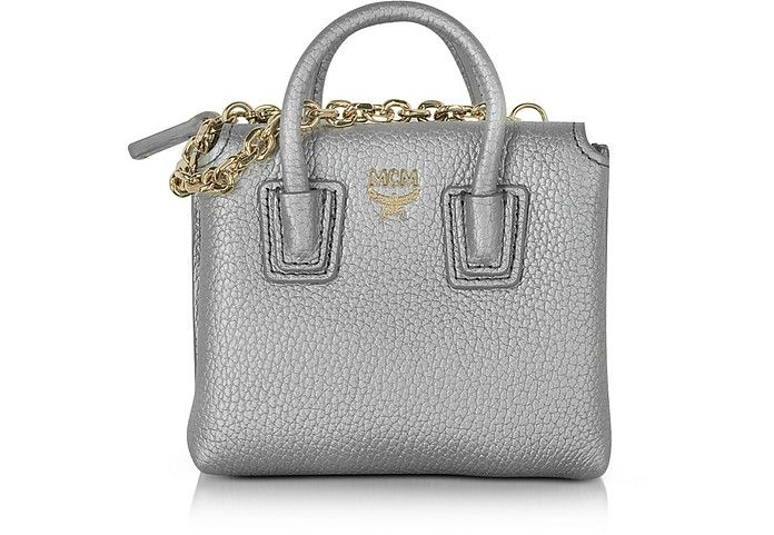 MCM Spike Silver Laminated Leather Milla Mini Bag Card Case. #mcm #bags #shoulder bags #hand bags #leather #tote #