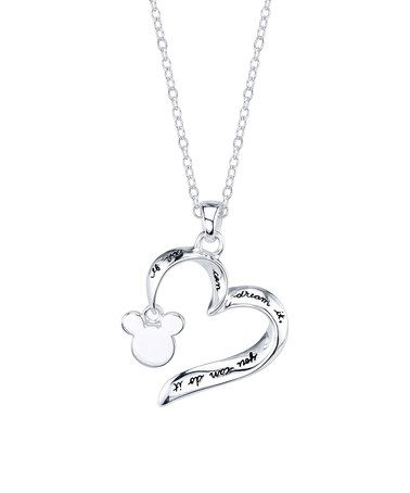 Sterling Silver 'If You Can Dream It' Open Heart Pendant Necklace #zulily #zulilyfinds