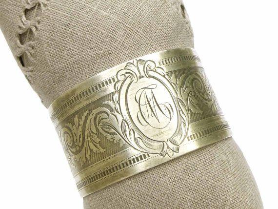 Rond de serviette ancien argent massif par LeGrenierDeFrancine
