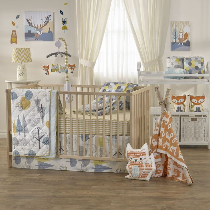 Woods Baby Beddings Woods Crib Set Crib Set Blanket