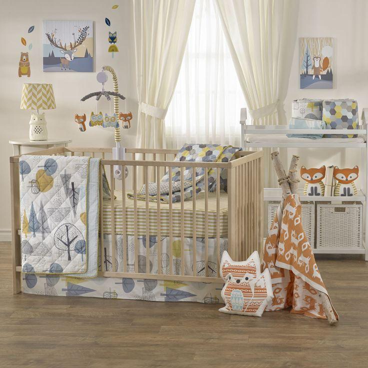 Woods Baby Beddings, Woods Crib Set, Crib Set, Blanket, Quilt