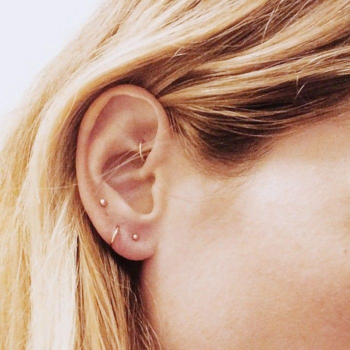 15 Cool-Girl Ear Piercings We Discovered on Pinterest via @ByrdieBeauty
