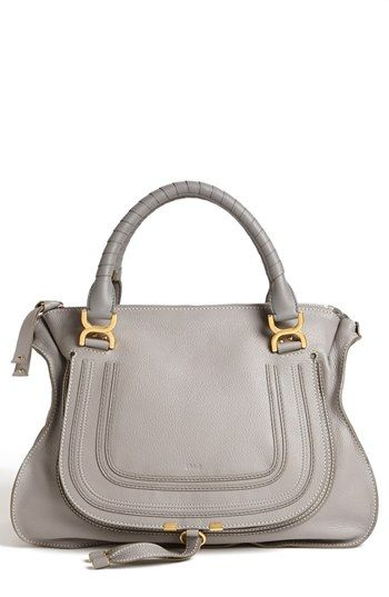 Because I've been REALLY good this year... Chloé 'Marcie Large' Leather Shoulder Bag (cashmere grey)