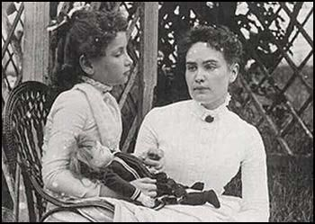 Helen Keller left with Anne Sullivan in 1888. Blind and deaf from the age of 19 months the achievements she made were amazing!