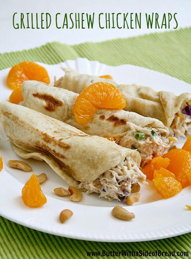 Cashew Chicken, Breads Recipe, Chicken Cashew Wraps, Chicken Salad