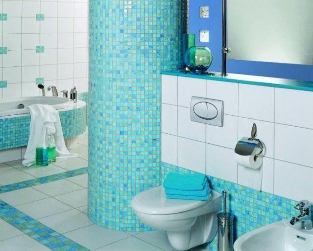 Turkusowa łazienka