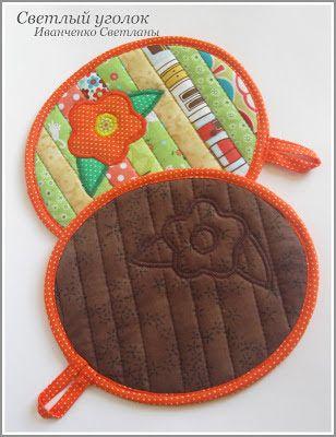 Luva termica para cozinha de patchwork quilts