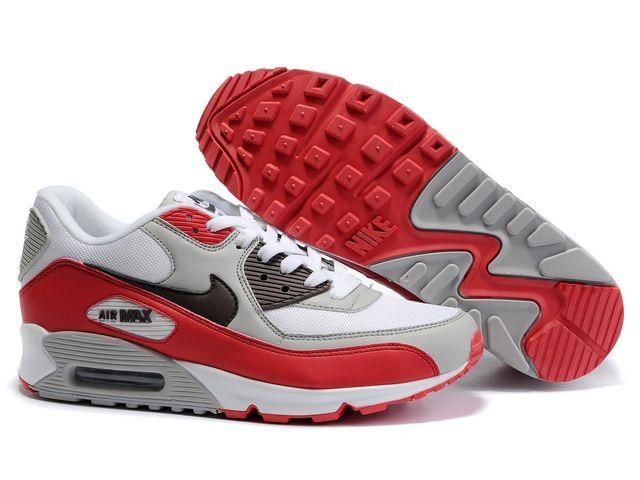 detailed look 688e8 3dd26 ... Ken Griffey Shoes Nike Air Max 90 White Red Grey Nike Air Max 90 -  Trying .