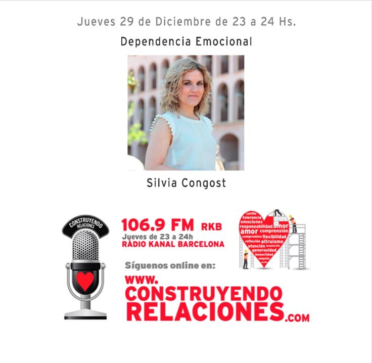 """Programa con Silvia Congost, hablando sobre """"Dependencia Emocional""""."""