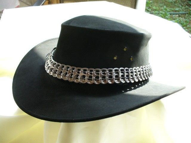 Hat Band of Recycled Pop Tabs. $14.00, via Etsy.