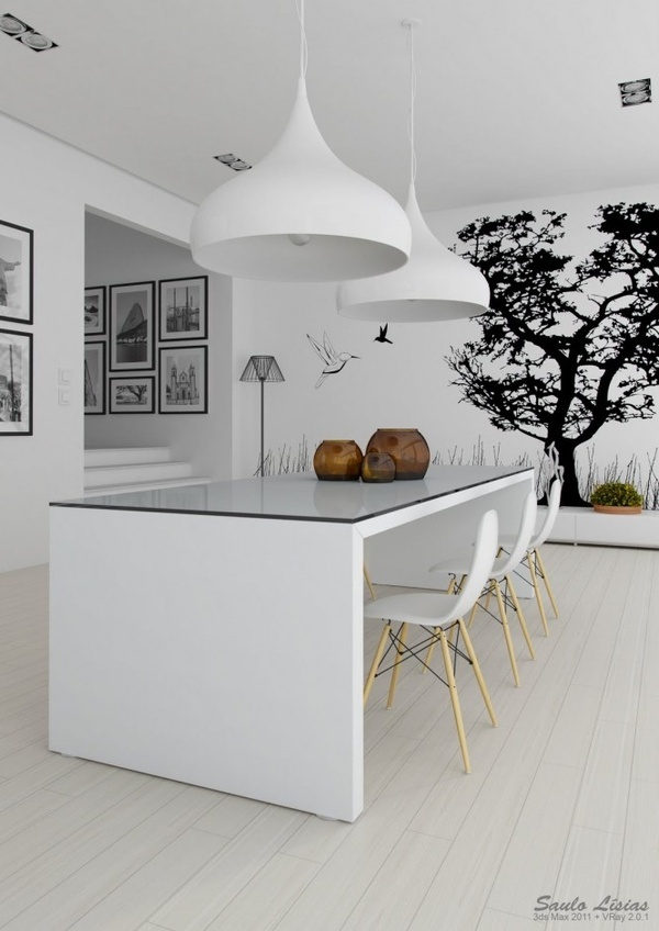 Enthralling Black and White Color Scheme For