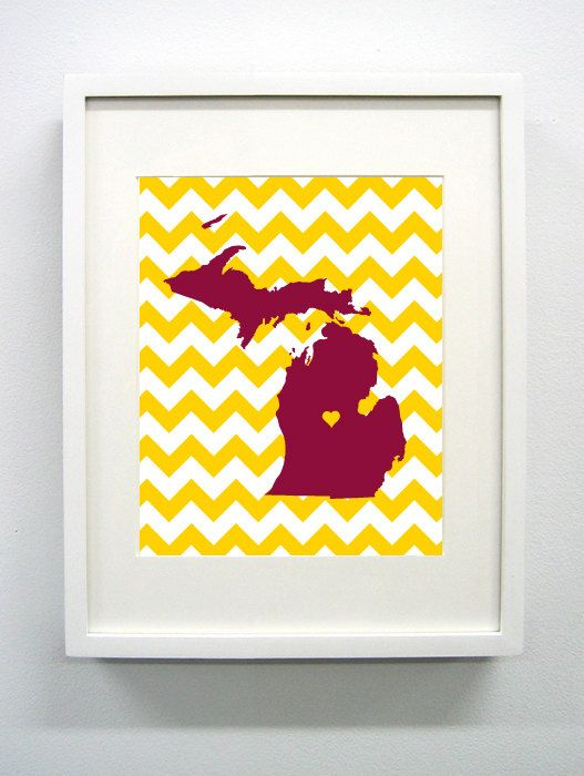 Central Michigan University Glicée Print  8x10  Go by PaintedPost, $14.00