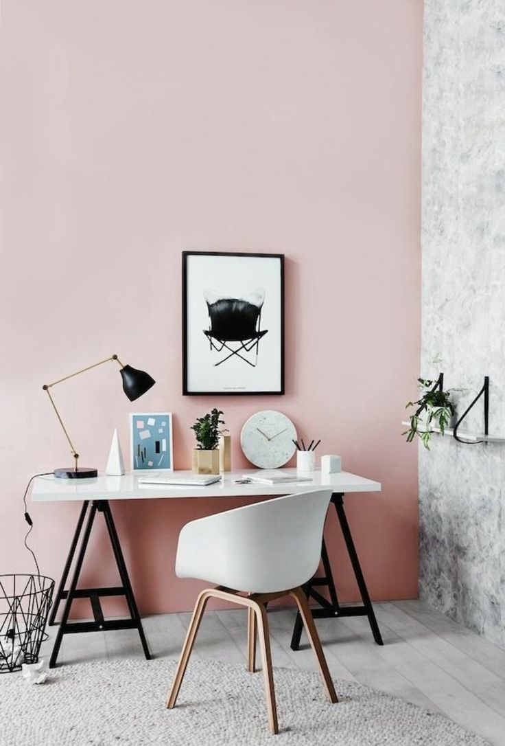 Arbeitszimmer Wände in der aktuellen rora Farbnuance streichen