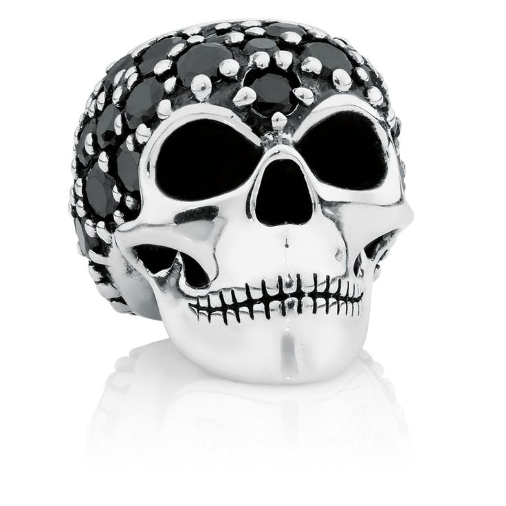 Cubic zirconia skull charm. Wild Hearts Collection exclusive to Emma & Roe.