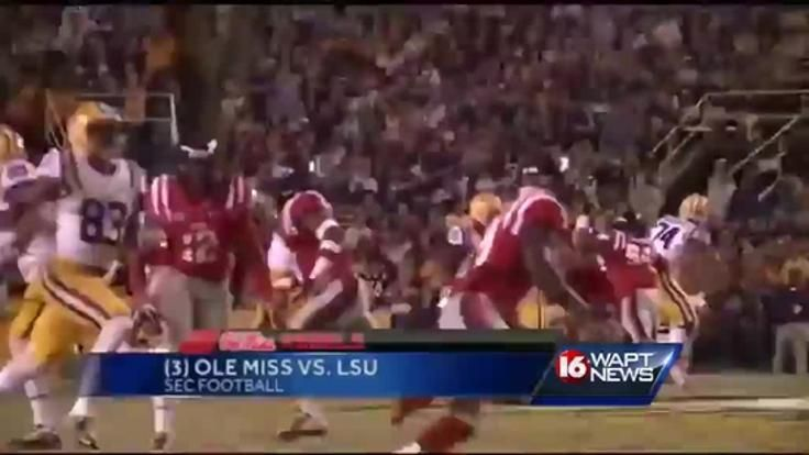 (3) Ole Miss vs. (24) LSU 24th ranked LSU knocked off 3rd ranked Ole Miss in Baton Rouge on Saturday night, handing the Rebels its first loss of the season.