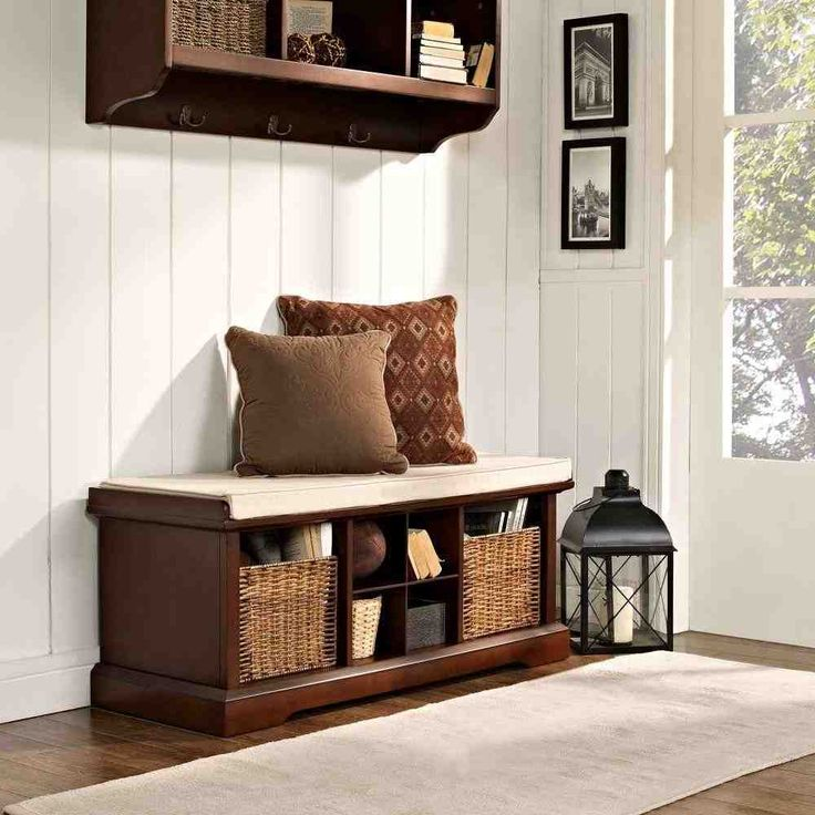 Wood Storage Bench with Baskets 18 best