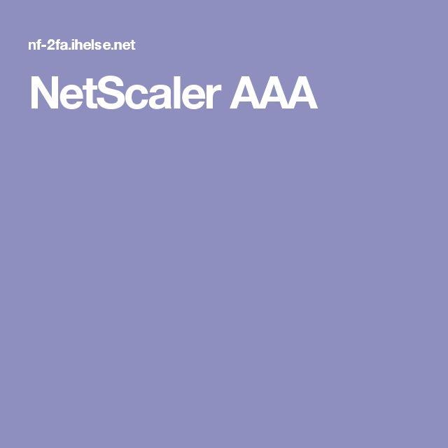NetScaler AAA