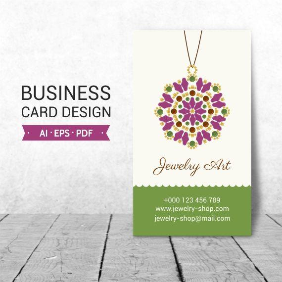 Jewelry Business Card Design