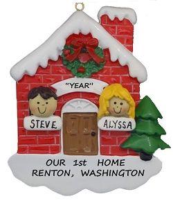couple our 1st home personalized christmas ornament custom hair rh pinterest com