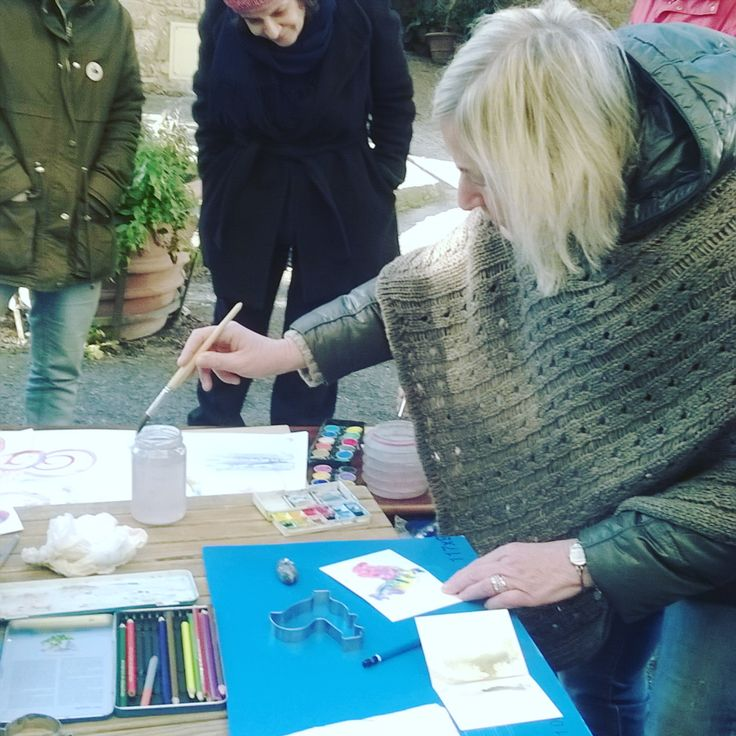 Colour and Magic. Watercolour workshop in Panzano in Chianti December 18th 2017. #enjoytheprocess #watercolours #workshop #paintingintuscany