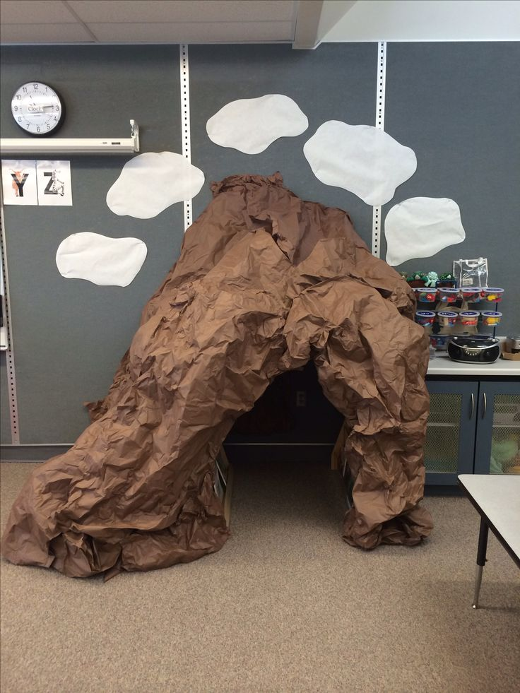 Bear Cave, full of Bear books... students wear headlamps when they go in!