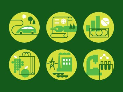 Green Icons by Eight Hour Day