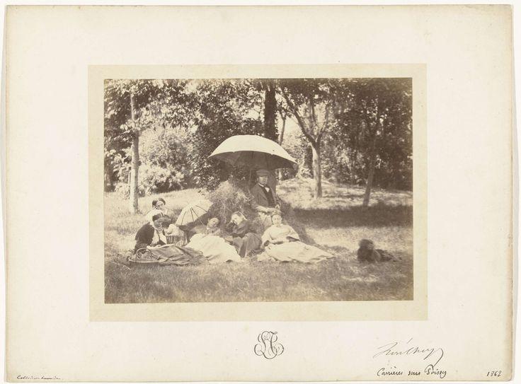 Familie op het land, L. Thoyot, 1862
