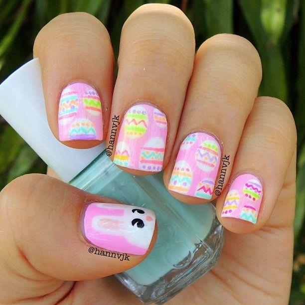 Easter Bunny Nails: 333 Best Easter Nail Design Images On Pinterest
