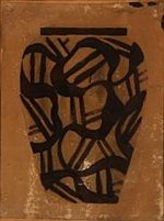 Sketch drawing of vase by Thorvald Bindesboll